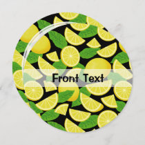 Lemon Background Invitation