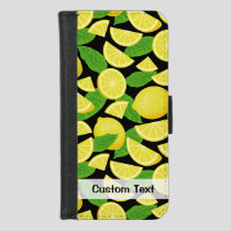 Lemon Background iPhone 8/7 Wallet Case