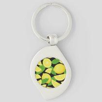 Lemon Background Keychain