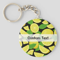 Lemon Background Keychain
