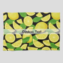 Lemon Background Kitchen Towel
