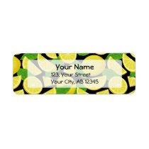 Lemon Background Label