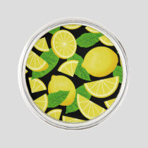 Lemon Background Lapel Pin