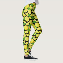 Lemon Background Leggings