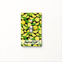 Lemon Background Light Switch Cover