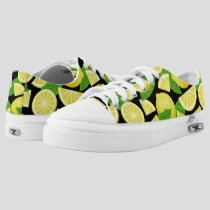 Lemon Background Low-Top Sneakers
