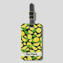 Lemon Background Luggage Tag