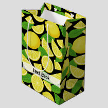 Lemon Background Medium Gift Bag