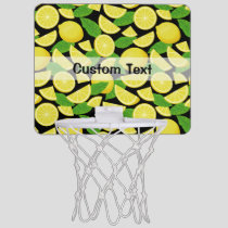 Lemon Background Mini Basketball Hoop