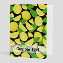 Lemon Background Mini Binder