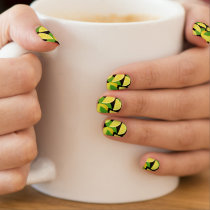 Lemon Background Minx Nail Art