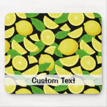 Lemon Background Mouse Pad