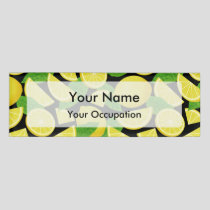 Lemon Background Name Tag