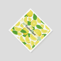 Lemon Background Napkins