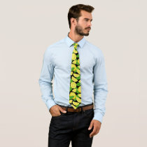Lemon Background Neck Tie
