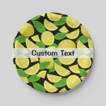 Lemon Background Paper Plate