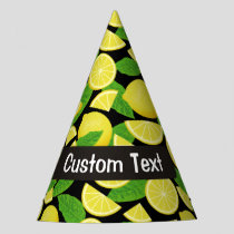 Lemon Background Party Hat