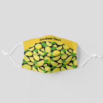 Lemon Background Pattern Adult Cloth Face Mask