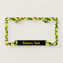 Lemon Background Pattern License Plate Frame