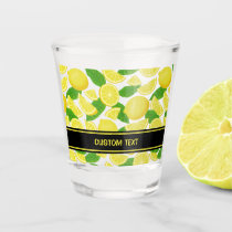 Lemon Background Pattern Shot Glass