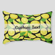 Lemon Background Pet Bed