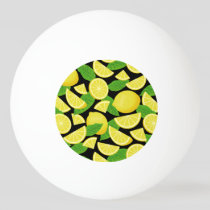 Lemon Background Ping Pong Ball