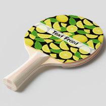 Lemon Background Ping Pong Paddle