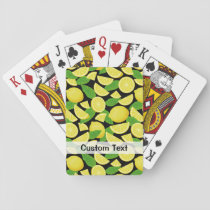Lemon Background Playing Cards