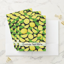 Lemon Background Pocket Folder
