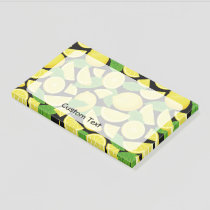 Lemon Background Post-it Notes