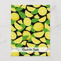 Lemon Background Postcard