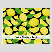 Lemon Background Postcard