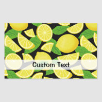 Lemon Background Rectangular Sticker