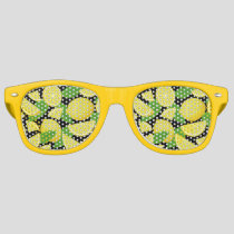 Lemon Background Retro Sunglasses