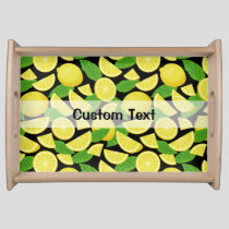 Lemon Background Serving Tray