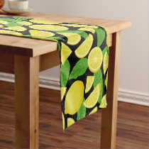 Lemon Background Short Table Runner