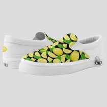 Lemon Background Slip-On Sneakers