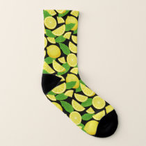 Lemon Background Socks