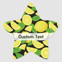 Lemon Background Star Sticker