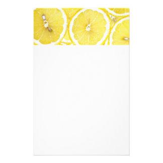 Lemon background stationery paper
