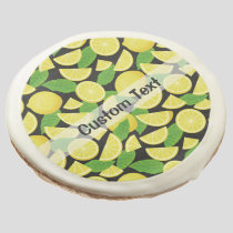 Lemon Background Sugar Cookie