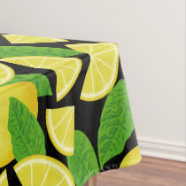 Lemon Background Tablecloth