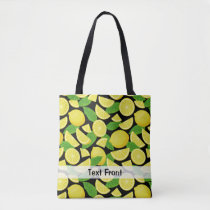 Lemon Background Tote Bag