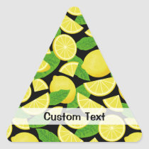 Lemon Background Triangle Sticker