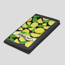 Lemon Background Trifold Wallet