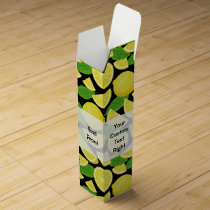 Lemon Background Wine Box