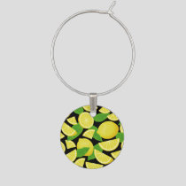 Lemon Background Wine Charm