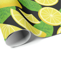 Lemon Background Wrapping Paper
