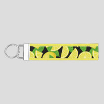 Lemon Background Wrist Keychain