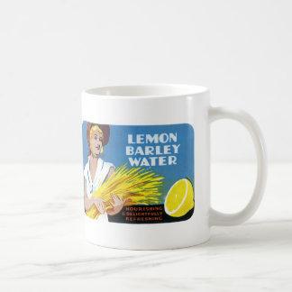 Lemon Barley Water Label Classic White Coffee Mug